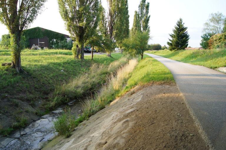 Rückhaltebecken in Natschbach/Loipersbach