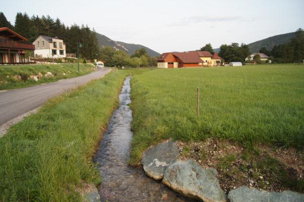 Rückhaltebecken in Puchberg am Schneeberg